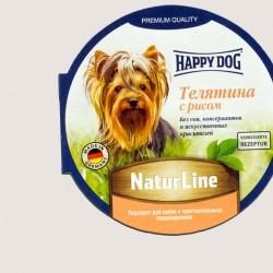Happy Dog Телятина с рисом, паштет для собак