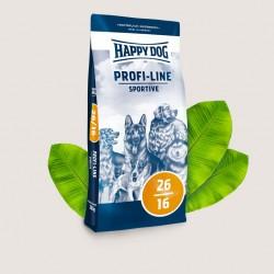 Happy Dog Profi-Line Sportive 26/16, Полноценный сбалансированный корм с повышенным содержанием энергии для взрослых собак с умеренными нагрузками, а также для собак содержащихся на улице.