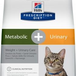 Hill`s Prescription Diet Feline Metabolic + Urinary Chicken (Курица), лечебная диета для кошек при мочекаменной болезни, склонных к набору веса и ожирении