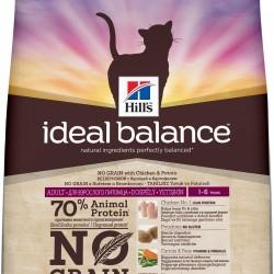 Hills Ideal Balance Feline Adult NO GRAIN (Курица с Картофелем), беззерновой корм для кошек от 1 до 7 лет