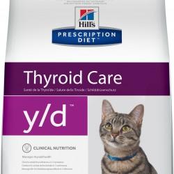 Hill`s Prescription Diet  y/d  Feline, сухой корм - лечебная диета для кошек при заболеваниях щитовидной железы