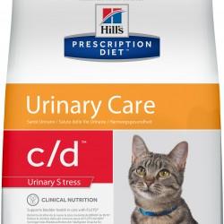 Hill's Prescription Diet c/d Feline Urinary Stress Chicken (Курица), лечебная диета для кошек, снижающая вероятность повторного проявления признаков идиопатического цистита кошек (ИЦК)