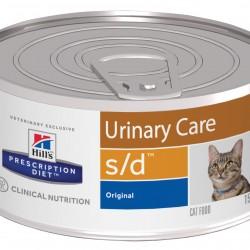 Hill's Prescription Diet Feline s/d, лечебная диета для кошек при мочекаменной болезни (для растворения струвитных уролитов)