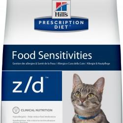 Hill's  Prescription Diet  Feline z/d  Low Allergen, лечебная диета для кошек при пищевой аллергии