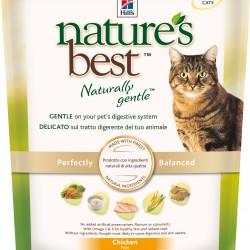 Hill`s Nature's Best  Naturally Gentle Feline Adult Chicken, корм для кошек без сои и пшеницы с курицей