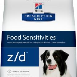 Hill's Prescription Diet Canine z/d, лечебная диета для собак пищевой аллергии, заболеваниях ЖКТ
