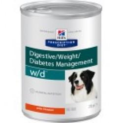 Hill`s Prescription Diet Canine w/d Chicken (Курица), лечебная диета для собак при диабете, расстройствах пищеварения, уролитиазе