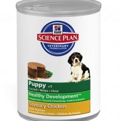 Hill's Science Plan Puppy Savoury Chicken (Курица), консервы для щенков с 3 недель до 12 месяцев, беременных и кормящих собак