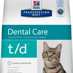 Hill`s Prescription Diet Feline t/d Chicken (Курица), лечебный корм для кошек для здоровья полости рта