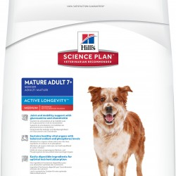 Hill's Science Plan Canine Mature Adult 7+ Active Longevity Medium with Chicken (Курица), корм для собак средних пород старше 7 лет