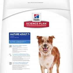 Hill's Science Plan Canine Mature Adult 7+ Active Longevity Lamb & Rice (Ягненок и рис), корм для собак всех пород от 7 лет и старше