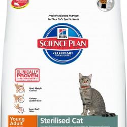 Hill`s Science Plan Feline Sterilised Cat Young Adult Tuna (Тунец), корм для молодых стерилизованных кошек обоих полов в возрасте от 6 месяцев до 6 лет