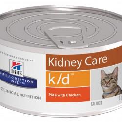 Hill's Prescription Diet Feline k/d Chicken (Курица), лечебная диета для кошек при почечной недостаточности и заболеваниях сердца