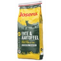JOSERA Ente & Kartoffel (Утка и Картофель), беззерновой корм для взрослых собак всех пород с пищевой аллергией на злаки