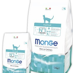 MONGE CAT HAIRBALL, корм для кошек для выведения комков шерсти из желудка