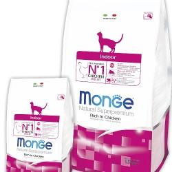 MONGE CAT INDOOR, корм для кошек, живущих в помещении