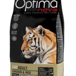 Optimanova Adult Chiken&Rice, полноценный корм для взрослых кошек