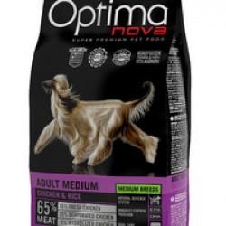 Optimanova Adult Medium Chiken&Rice, полноценный корм для взрослых собак средних пород с 12 месяцев