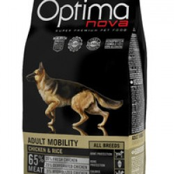 Optimanova Adult Mobility Chiken&Rice, корм для взрослых собак, помогающий поддерживать и повышать подвижность суставов