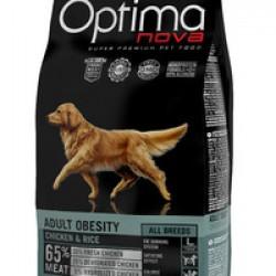 Optimanova Adult Obesity Chiken&Rice, корм для взрослых собак с избыточным весом