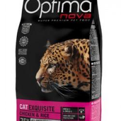 Optimanova Exquisite Chiken&Rice, полноценный корм для привередливых кошек