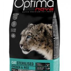 Optimanova Sterilised Chiken&Rice, полноценный корм для стерилизованных кошек