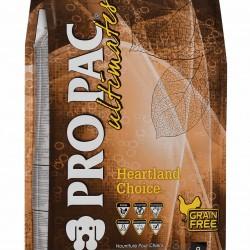 PRO PAC ULTIMATESTM DOG HEARTLAND CHOICE GRAIN - FREE, Беззерновой сухой корм для щенков с 1 месяца и взрослых собак всех пород