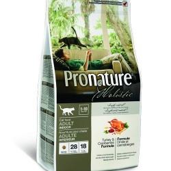 PRONATURE HOLISTIC ADULT TURKEY & CRANBERRY, Корм для взрослых кошек 1-10 лет, живущих в помещении (индейка, клюква)
