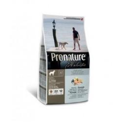 Pronature Holistic Adult Dog Atlantic Salmon & Brown Rice,  корм с атлантическим лососем и бурым рисом для собак с чувствительной кожей (от 1 года)