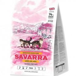 SAVARRA SENSITIVE CAT, корм для кошек с чувствительным пищеварением (ягненок с рисом)