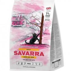 SAVARRA ADULT CAT, корм для взрослых кошек (ягненок и рис)