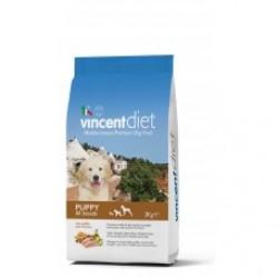 Vincent Diet Puppy, сбалансированный корм для для щенков всех пород с курицей.