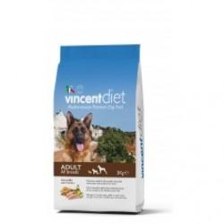 Vincent Diet With Chicken, сбалансированный корм для взрослых собак всех пород (курица)