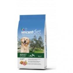 Vincent Diet With Lamb, сбалансированный корм для взрослых собак всех пород с Ягнёнком