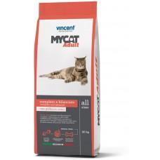 Vincent MYCAT Adult, Полнорационный корм для взрослых кошек с нормальной физической активностью.